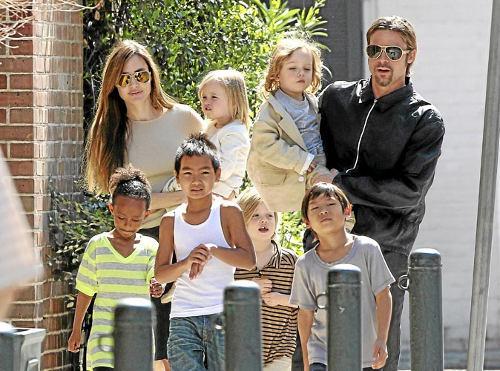 famille Angelina Joile Brad Pitt