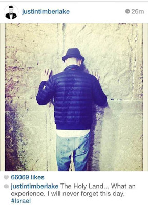 Justin Timberlake jérusalem