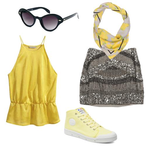 Look jaune Roland Garros