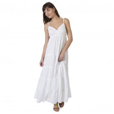 Robe Gémo blanche soldes