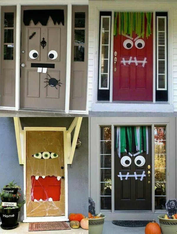 porte d'halloween