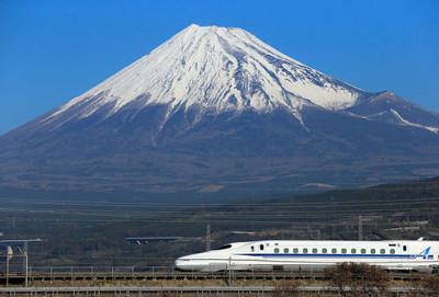 shinkansen devant le mont fuji