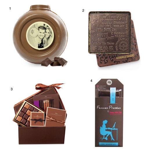 chocolat cadeaux boules
