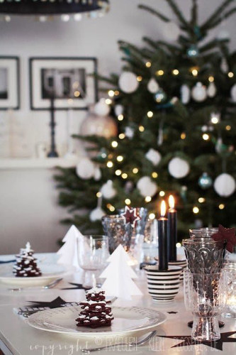 table et sapin blanc