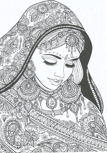 Lady Coloring Page by Truce de Nana