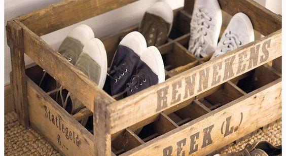 pour nos chaussures plates on rcupre une palette plutt sympa pour dcorer et si lon souhaite obtenir un gain de place on opte pour la version - Comment Ranger Ses Chaussures Dans Un Placard