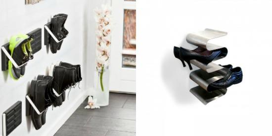 Rangement chaussures mural maison design for Meuble a chaussure mural ikea