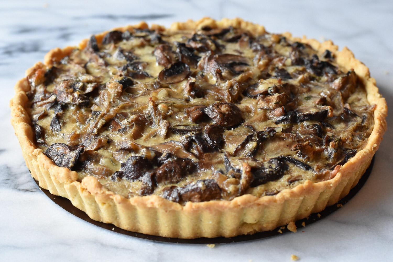 recette tarte aux ch taignes pinards et champignons trucs de nana. Black Bedroom Furniture Sets. Home Design Ideas