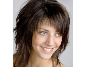 Coupe de cheveux mi long degrade chatain