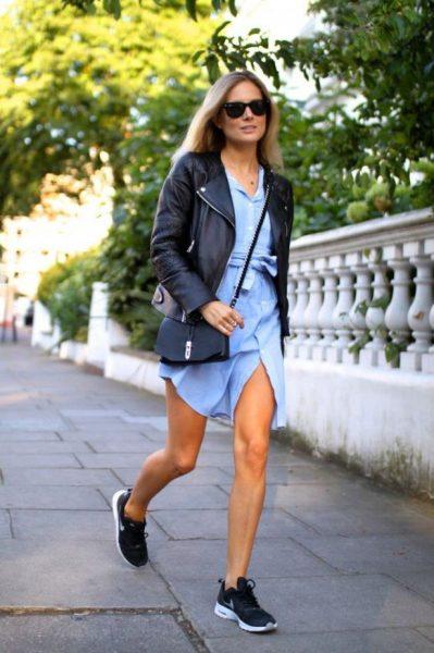 robe-jean-blouson-cuir