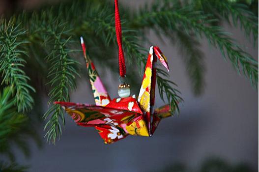 origami boule de noel