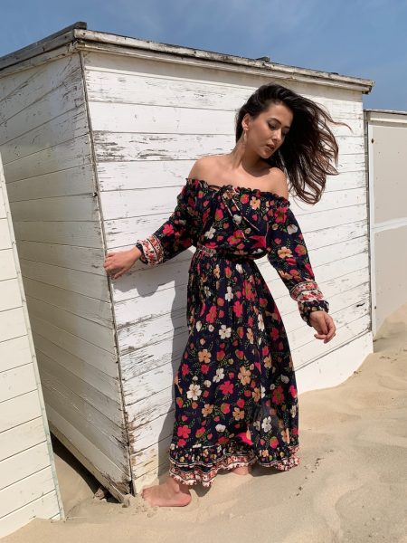 robe-longue-fleurie