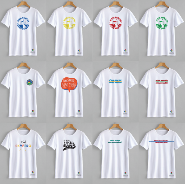 12 T-shirts-projet-solidaire